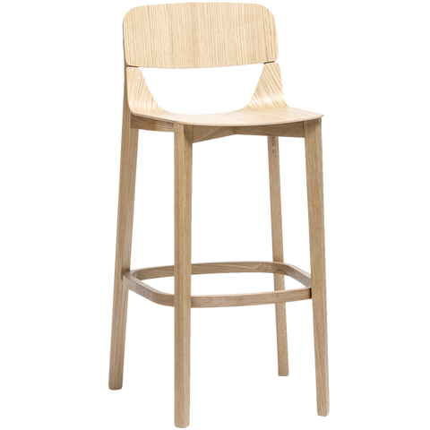 TON LEAF STOOL WITH BACKREST HIGH