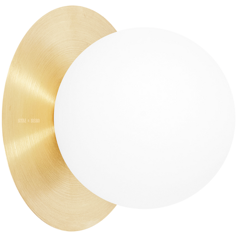 BRASS DISC GLOBE WALL LIGHT - WALL LIGHTS - DYKE & DEAN  - Homewares | Lighting | Modern Home Furnishings