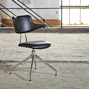 VL119 LEATHER SWIVEL CHAIR - CHAIRS - DYKE & DEAN  - Homewares | Lighting | Modern Home Furnishings