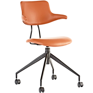 VL119 LEATHER SWIVEL CHAIR