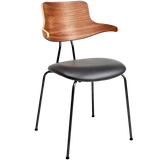 VL118 LEATHER & WOOD CHAIR