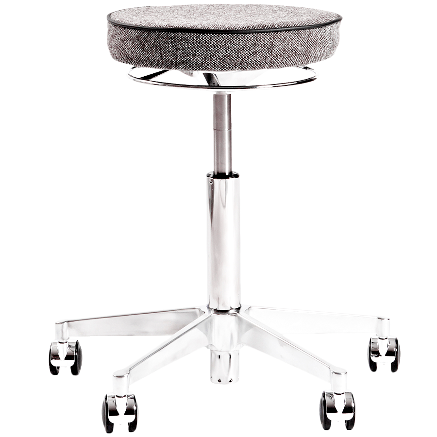 VL66T LEATHER SWIVEL STOOL