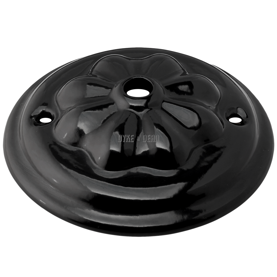 BLACK CERAMIC VICTORIAN CEILING ROSE