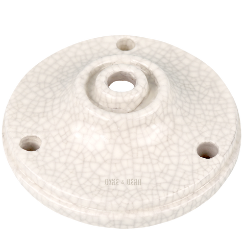 CRACKLE GLAZE CERAMIC CEILING ROSE