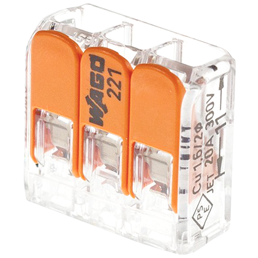 WAGO 221 TERMINAL BLOCK 3 CONNECTOR