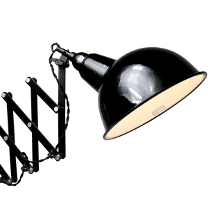 DYKE & DEAN BLACK SCISSOR WALL LIGHT