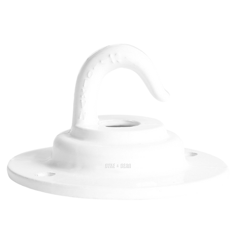 HEAVY DUTY CAST CEILING HOOK WHITE