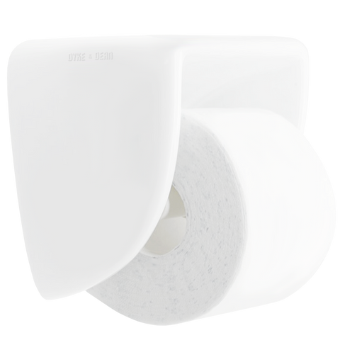 FLAT TOP PORCELAIN TOILET PAPER HOLDER - BATHROOM - DYKE & DEAN  - Homewares | Lighting | Modern Home Furnishings
