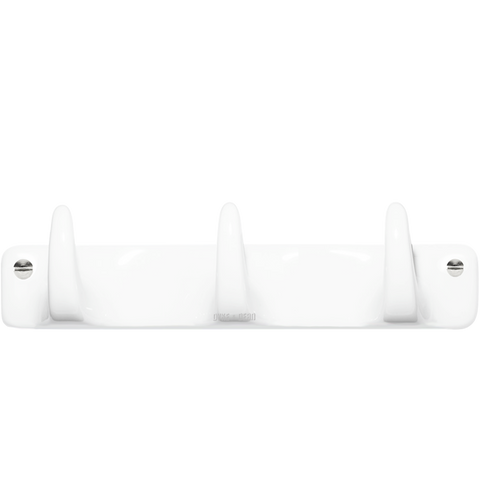 WHITE PORCELAIN HOOK 3 - BATHROOM - DYKE & DEAN  - Homewares | Lighting | Modern Home Furnishings