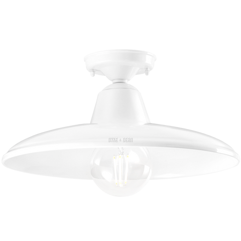 WHITE PORCELAIN CEILING SHADE