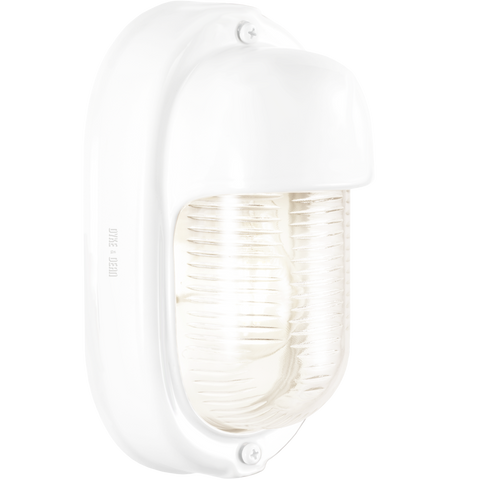 WHITE PORCELAIN VERTICAL BULKHEAD LAMP