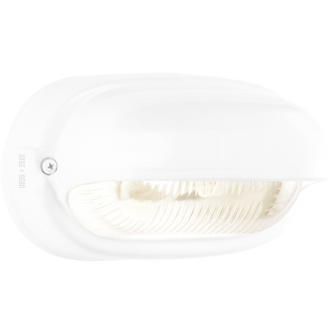 WHITE PORCELAIN BULKHEAD LAMP - BATHROOM / OUTDOOR LIGHTS - DYKE & DEAN  - Homewares | Lighting | Modern Home Furnishings