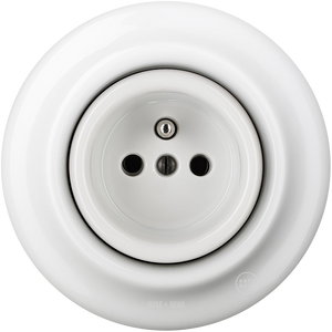 PORCELAIN WALL SOCKET WHITE