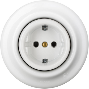 PORCELAIN WALL SOCKET WHITE SCHUKO