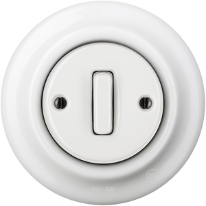 PORCELAIN WALL SWITCH WHITE SLIM BUTTON