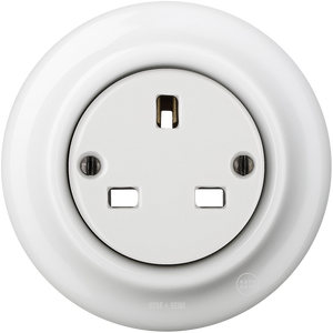 PORCELAIN WALL SOCKET WHITE UK