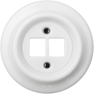 PORCELAIN WALL SOCKET WHITE PC/USB - PORCELAIN WALL SOCKETS - DYKE & DEAN  - Homewares | Lighting | Modern Home Furnishings