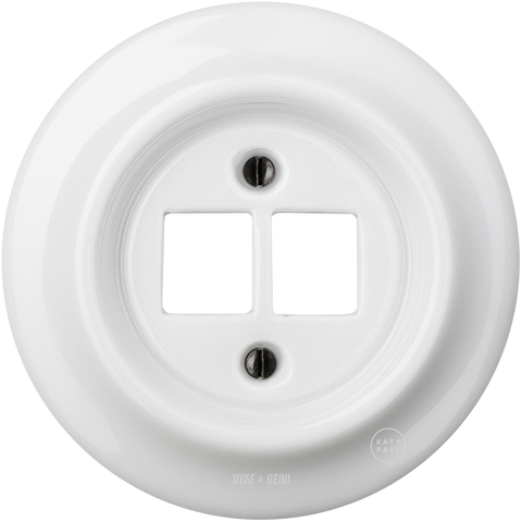 PORCELAIN WALL SOCKET WHITE PC/USB