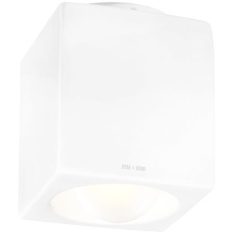 WHITE PORCELAIN CUBE CEILING DOWNLIGHT E27