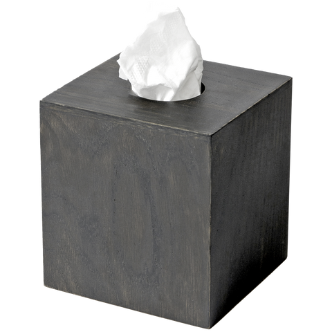 TISSUE BOX CUBE MEZZA DARK OAK