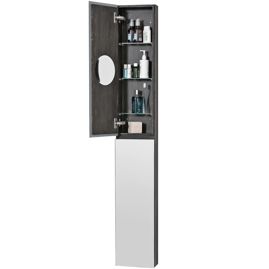 MIRROR CABINET ZONE TALL 1622 DARK OAK