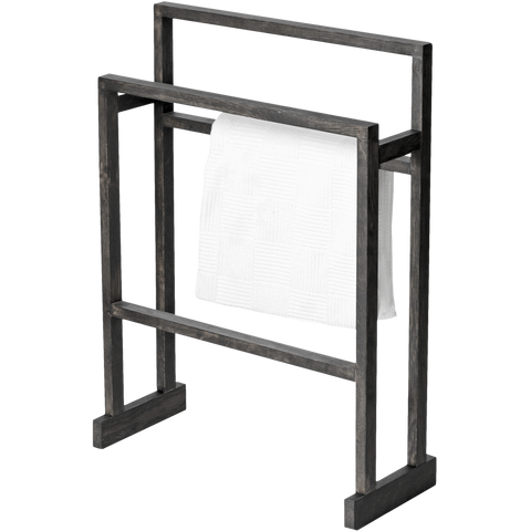 LARGE TOWEL RAIL MEZZA DARK OAK - BATHROOM - DYKE & DEAN  - Homewares | Lighting | Modern Home Furnishings