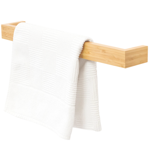 SLIMLINE HAND TOWEL RAIL LONG BAMBOO - BATHROOM - DYKE & DEAN  - Homewares | Lighting | Modern Home Furnishings