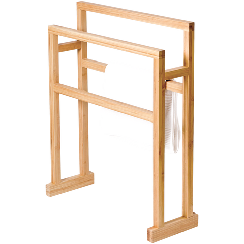 LARGE TOWEL RAIL MEZZA BAMBOO