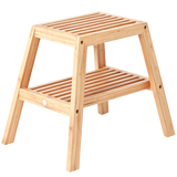 SLATTED BATH STOOL BAMBOO