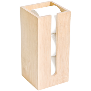 TOILET ROLL BOX IN NATURAL OAK - BATHROOM - DYKE & DEAN  - Homewares | Lighting | Modern Home Furnishings