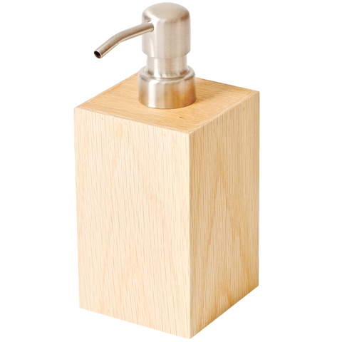 SOAP PUMP IN NATURAL OAK