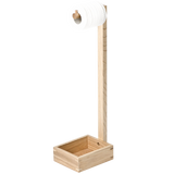 FREE STANDING TOILET ROLL HOLDER IN NATURAL OAK