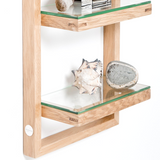 WALL SHELF ZONE NATURAL OAK