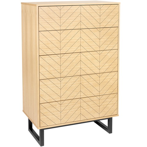 HERRINGBONE HIGHBOARD CABINET OAK