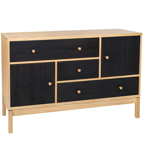 ABBYWOOD BLACK & NATURAL SIDEBOARD OAK