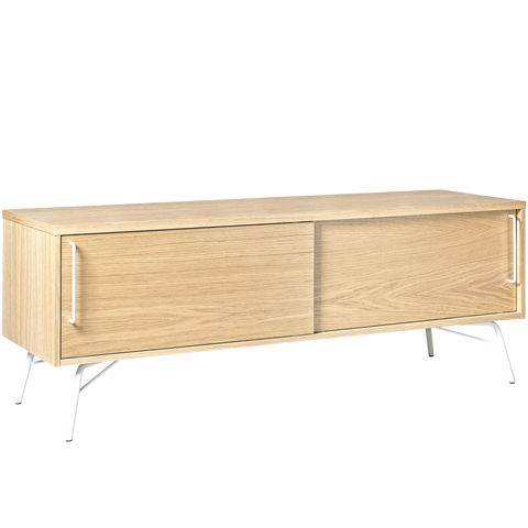 ASHBURN TV SIDEBOARD OAK WHITE LEGS