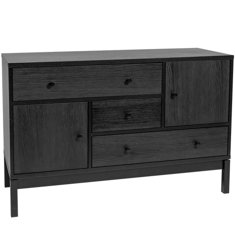 ABBYWOOD BLACK SIDEBOARD OAK