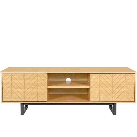 HERRINGBONE TV SIDEBOARD OAK