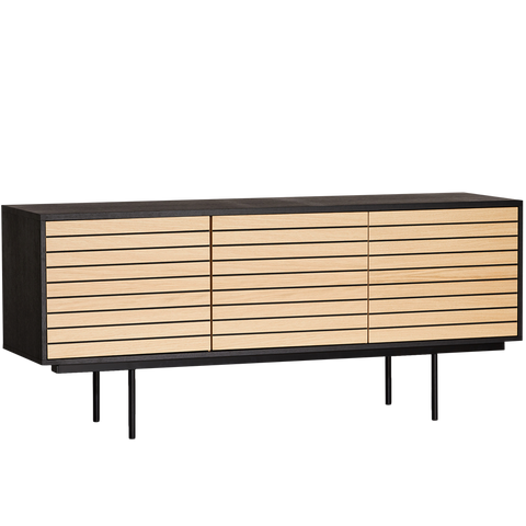 STRIPE BLACK SIDEBOARD OAK