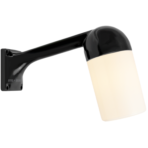 BLACK WALL ARM WATERPROOF LAMPS