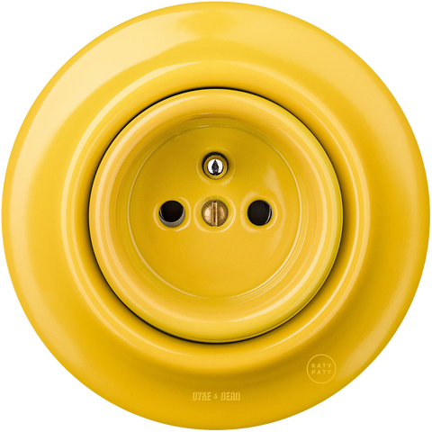 PORCELAIN WALL SOCKET YELLOW