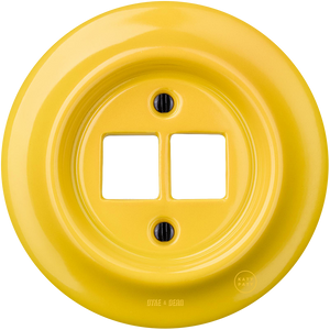 PORCELAIN WALL SOCKET YELLOW PC/USB
