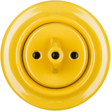 PORCELAIN WALL SWITCH YELLOW ROTARY
