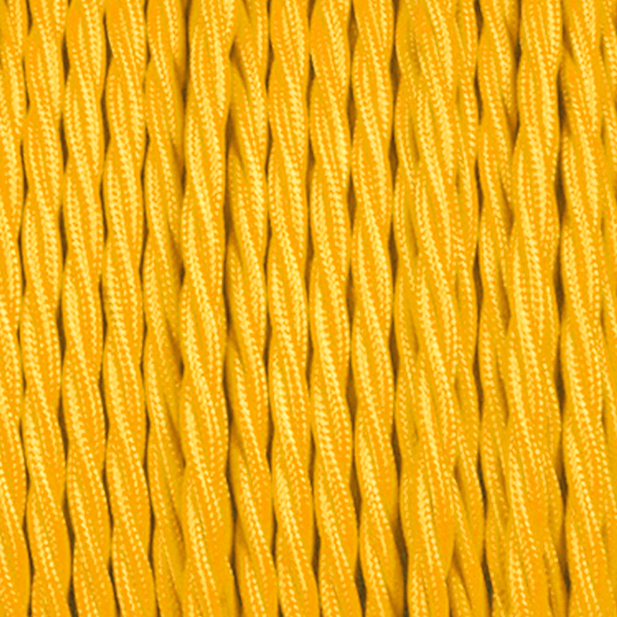 YELLOW TWISTED FABRIC CABLE