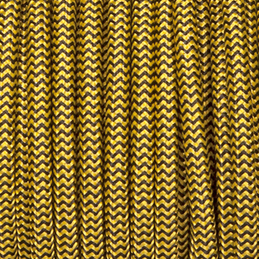 YELLOW & BLACK ZIG ZAG FABRIC CABLE
