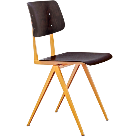 GALVANITAS S16 CHAIR BROWN OCHRE/EBONY