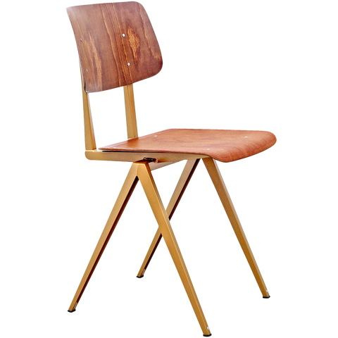GALVANITAS S16 CHAIR GOLD/BROWN