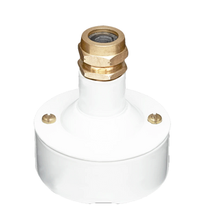 CONDUIT BRASS CABLE GLAND WHITE