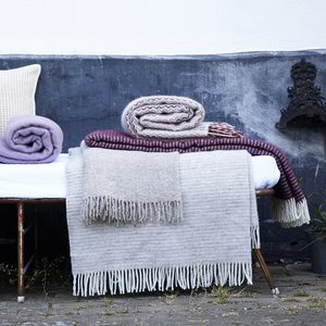 KLIPPAN AUBERGINE BLANKET - HOMEWARE - DYKE & DEAN  - Homewares | Lighting | Modern Home Furnishings