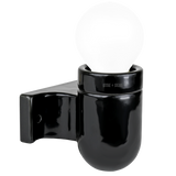 CERAMIC DROP ARM WALL FITTING BLACK